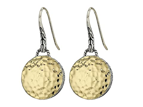 John Hardy Dot Hammered Round Drop Earrings On French Wire