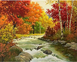 Oucan 5D Diamond Painting Full Drill DIY,Scenery Diamond Painting Embroidery Art Craft Home Decoration Full Drill Diamond Painting Kits for Adults(30x25cm
