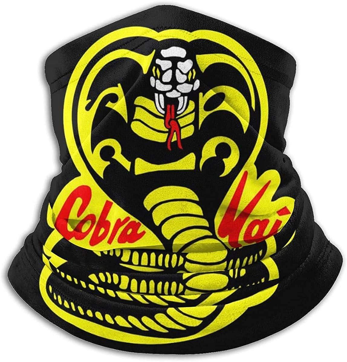 Cobra Kai Scarf Neck Brace Gaiter Face cover, Magic Scarf Headwrap Balaclava Bundle Hair Band Beadband Haze Wind Uv Sun Men Women