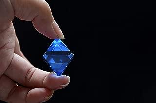 Rare Clear Blue Siberian Crystal Quartz Octahedron 1.25 Inch Spiritual Reiki Healing