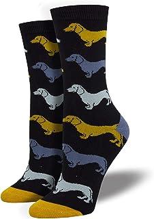 Calcetines de perro salchicha de bambú negro azul mostaza salchicha perros novedad regalo calcetín niñas