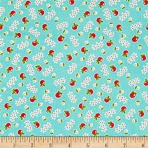 Riley Blake Designs Riley Blake Farm Girl Vintage Apple Cottage Green, Fabric by the Yard