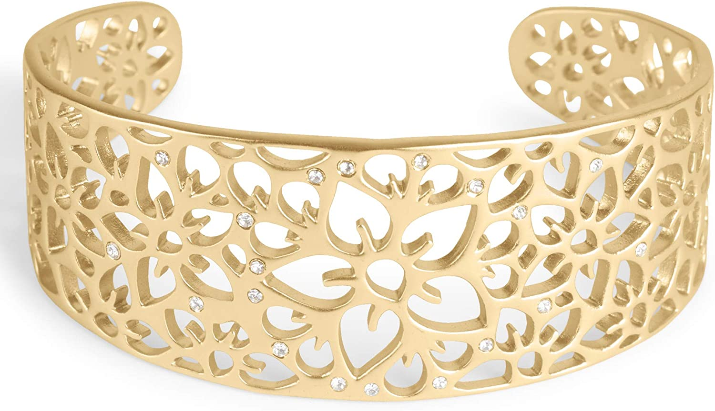 Lucky Brand Pave Openwork Cuff Bracelet, Gold