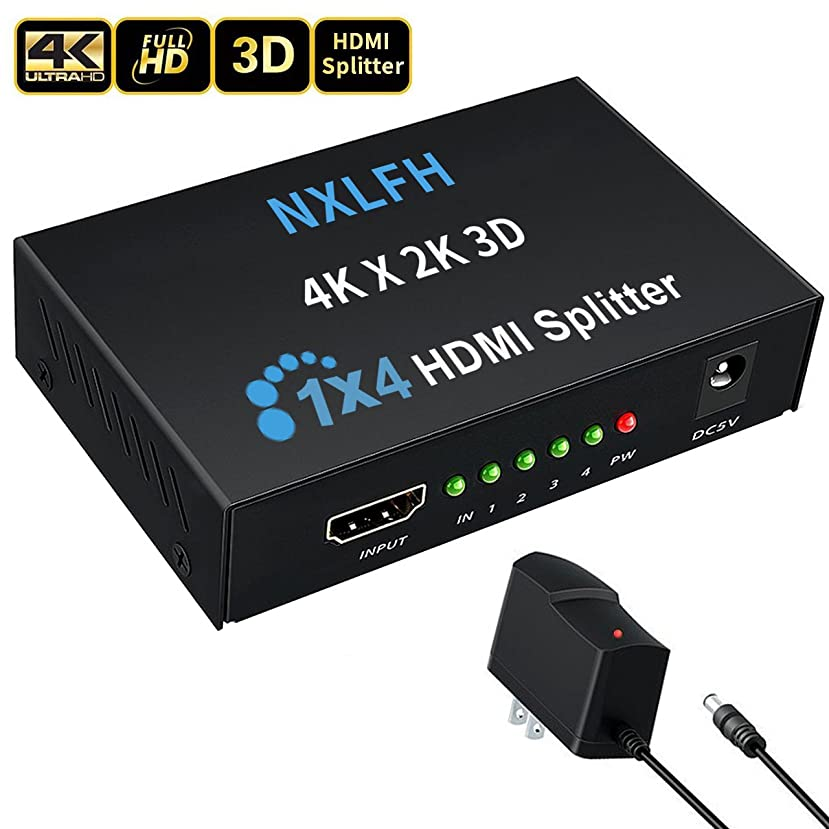 HDMI Splitter, 1 Input to 4 Outputs Hdmi Splitter Hdmi Signal Splitter 1 Port HDMI Powered Splitter?Certified for Full HD 1080P &4Kx2K 3D Support[2018 Version]
