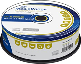 CD-R 100 Min/900 MB MediaRange in Cakebox de 25