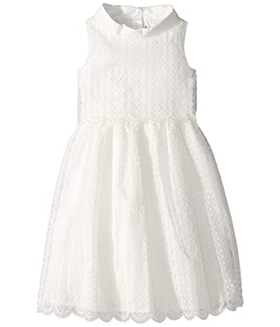 Janie and Jack Embroidered Tiered Dress (Toddler/Little Kids/Big Kids) (White) Girl