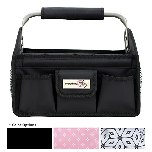 9c023ce7ff Everything Mary Black Deluxe Tag Along Storage Organizer Tote - Bin for  Tools