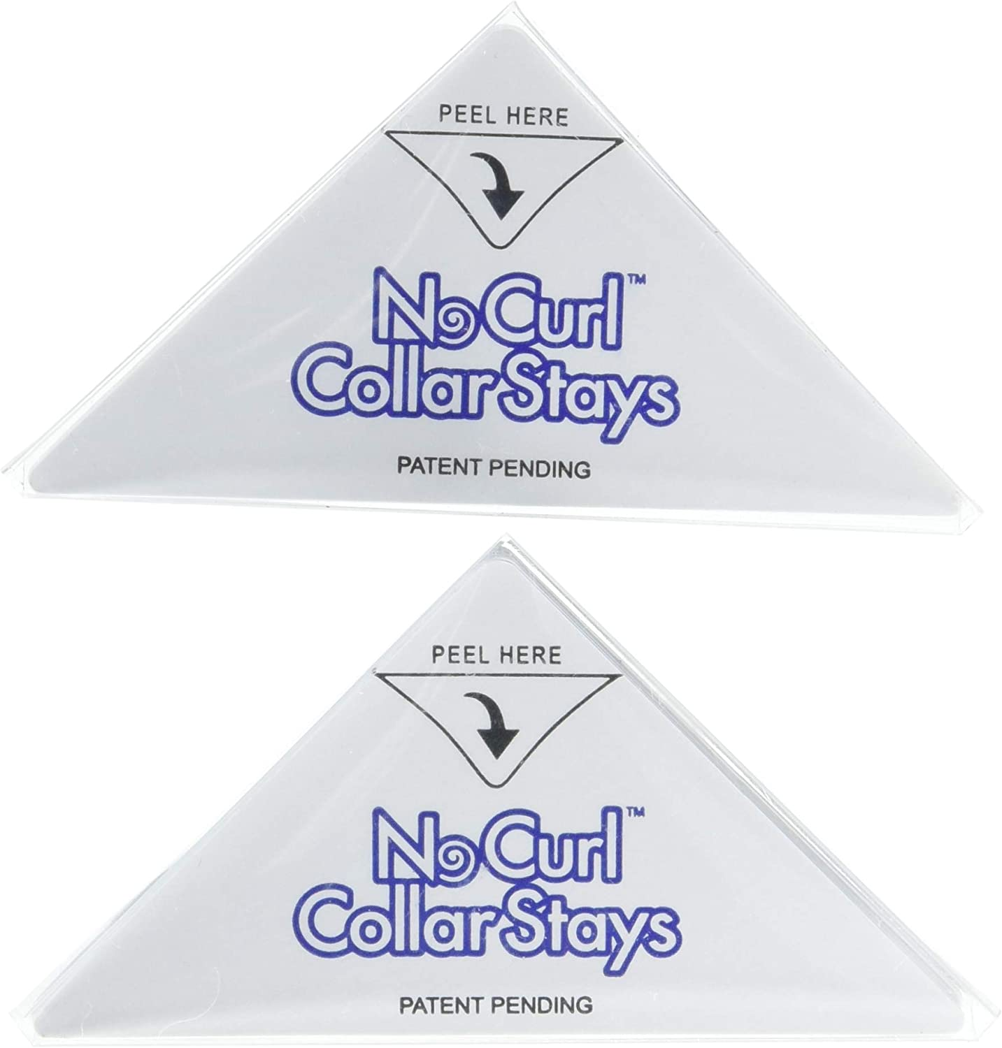 No Curl Collar Polo Shirt Collar Stays (You Choose: Peel-&-Stick or Iron-on)