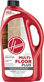 Hoover Multi-Floor Plus Hard Floor Cleaner Solution Formula, 64 oz, AH30420NF, Red