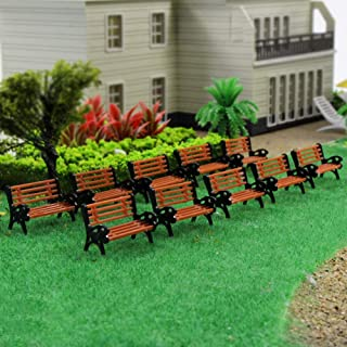 YZ87 10pcs Park Benches Model Train HO TT 1:87 Bench Chair Settee Railway Layout New