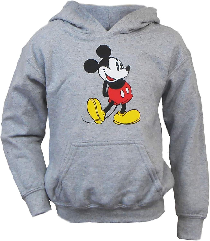 Disney Youth Head to Toe Mickey Hoodie Heathered Grey Medium (7/8)