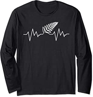 NZ Silver Fern Heartbeat T-Shirt Rugby Gift Tee