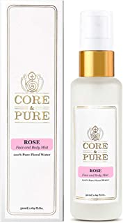 CORE & PURE Rose Water 50 ML Face and Body Mist |100% Natural Hydrosol