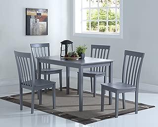 Angel Line Dining Set (5-Piece), Gray