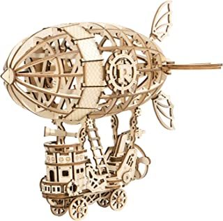 Robotime 3D Puzzle Airship Wooden Jigsaws Kit Wooden Puzzles DIY Hand Craft Mechanical Toy Gift for Kids Teens AdultsP