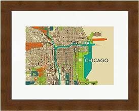 Chicago Map Mid Century Art Map Print MCM Art Poster Scandinavian Design Midcentury Art Poster Chicago Art Chicago Poster MCM Art City Print