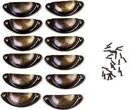 FVCENT Shell handvat lades handgrepen brons kast handgrepen antieke meubels handvat halve cirkel met schroeven voor kabine...