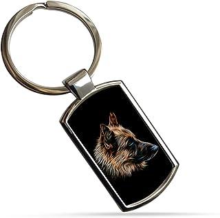 LUOSI Key Chain dArgento Bulldog Inglese Beagle Siberian Husk Pugile Tedesco Pastore Portachiavi Dog Pet Portachiavi Fascino del Sacchetto Color : Golden Retriever