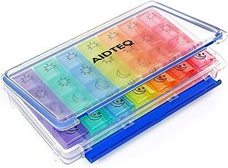 Aidteq Premium Pill Box Organiser 7 Day 4 Times a Day AM PM