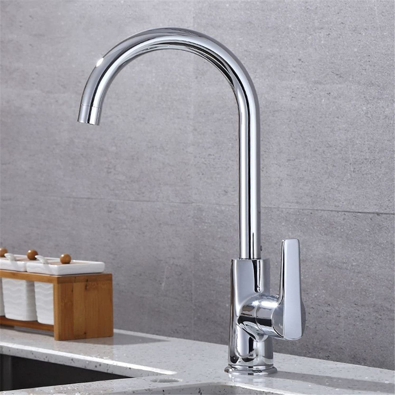 Commercial Single Lever Pull Down Kitchen Sink Faucet Brass Constructed Polished Kitchen Faucet Sink Hot and Cold Water Faucet Can redate The Sink Faucet Copper Faucet