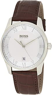 Hugo Boss Mens Quartz Watch, Analog Display and Stainless Steel Strap, 1513588