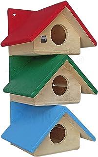 PetNest Wood Siya Outdoor Decor Bird House Nest Box