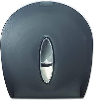 Single-Roll Jumbo Toilet Paper Dispenser by GP PRO (Georgia-Pacific), Translucent Smoke, 59009, 10.610