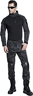US Army Uniform Shirt Pants with Knee Pads Tactical Combat Airsoft Hunting Apparel Camo BDU