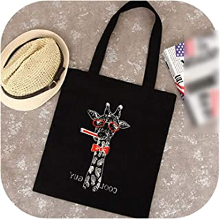 Female Canvas Beach Bag Cartoon Cat Printed Casual Tote Women Handbag Daily Use Shoulder Shopping Bags,style 3
