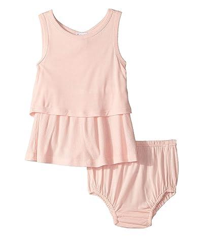 Splendid Littles Rib Shirring Dress Set (Infant) (Crystal Rose) Girl