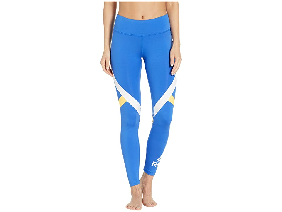 Reebok Work Out Ready Big Delta Tights (Blue) Women