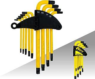 Convy GJ-0045 Arm Star Key Wrench Set Long Hollow End Star Key Set T10-T50 Set of 9-Piece