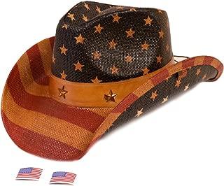 USA Vintage American Flag Western Hat