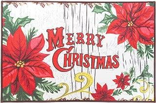 YJ.GWL Merry Christmas Theme Rugs Doormat Outdoor Indoor Front Door Mats Non-Slip Carpets for Bedroom Living Room Kitchen Garden, 2' x 3', Christmas Flower