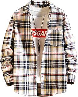 [リディーコロ] ネルシャツ 長袖 チェックシャツ 胸ポケット ゆったり カジュアル メンズ M~2XL 5カラー