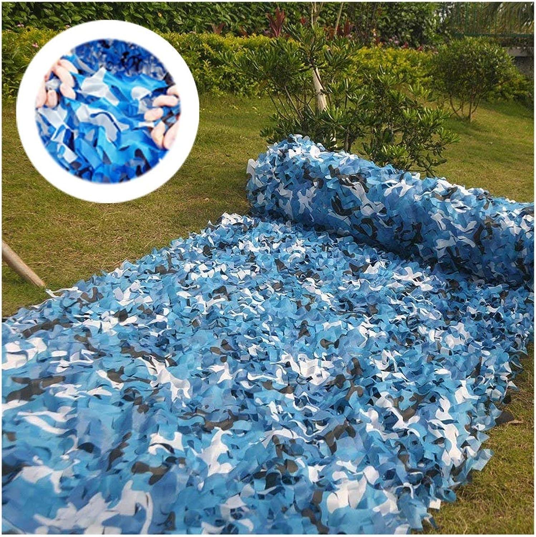 ZHhome Blau Camouflage Netting Tarnnetz Outdoor Snow Interior Camouflage Sonnenschutznetz Markisen Für Terrassen Sonnenschutznetz Gartennetz 2x3m 3x4m
