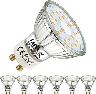 EACLL GU10 LED Warmweiss 5W Ersetzt 50W Halogen Leuchtmittel, 6er-Pack. 2700K 425 Lumen Birnen, AC 230V Flimmerfrei Strahl...
