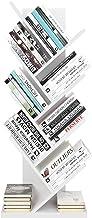 Homfa Estantería para Libros Librería de Árbol Estantería de Pared con 8 Estantes Estantería Almacenaje Libros (Blanco)