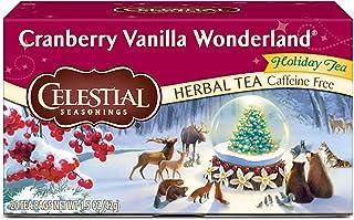 Celestial Seasonings Herbal Tea, Cranberry Vanilla Wonderland, 20 Count (Pack of 6)