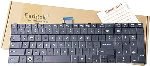 Eathtek Replacement Keyboard for Toshiba Satellite C855 C855D Series Black US Layout
