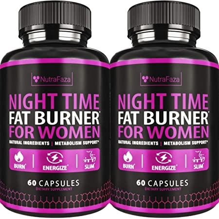 (2 Pack) Night Time Fat Burner - Effective Weight Loss Pills - Powerful Fat Burners for Women - Sleep Aid Diet Pills, Appetite Suppressant and Metabolism Booster for Weight Loss - 120 Vegan Capsules