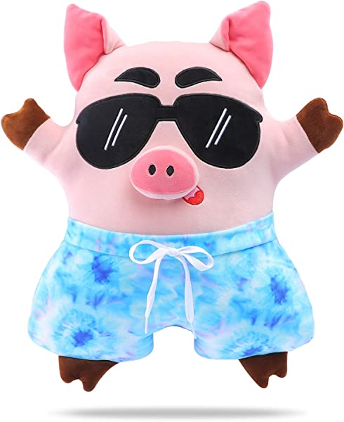 DRMOOD Animal Stuffed Pillows Cute Plush Pig Pillow Kids Soft Plush Toy Gifts For Birthday Pink 18 5inch