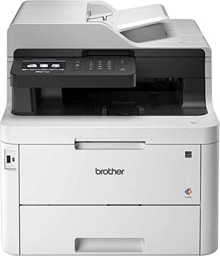 """2021 Brother MFC-L3770CDW Compact Wireless Digital Color All-in-One Printer with NFC, 3.7"""" Color Touchscreen, new arrival Automatic Document Feeder, Wireless online and Duplex Printing and Scanning sale"""
