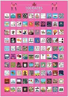 100 datums bucketlist, 100 dingen om te doen Dating Scratch Off Bucket List Poster Valentines Scratch Off afdrukken Poster...