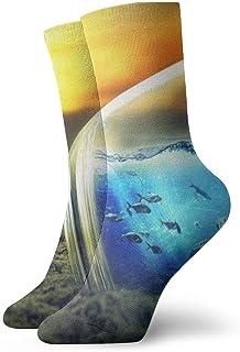 OUYouDeFangA, OUYouDeFangA Ocean In The Bottle - Calcetines Cortos de algodón para Yoga, Senderismo, Ciclismo, Correr, fútbol, Deportes