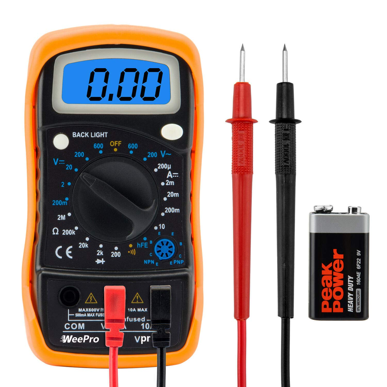 WeePro Vpro850L Multimeter Voltmeter Continuity