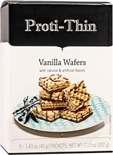 Proti-Thin High Protein Wafer Squares - Vanilla - 5 Servings - 2 Wafers per Serving - Diet Wafer Bars - Healthy Snack - Lo...