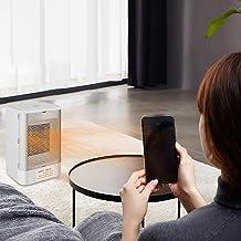 Calefactor De Espacio Personal, Heater Portátil Termostato, Calefactor cerámico con Control De Temperatura, Calefactor Bajo Consumo - para Baño Oficina Salón
