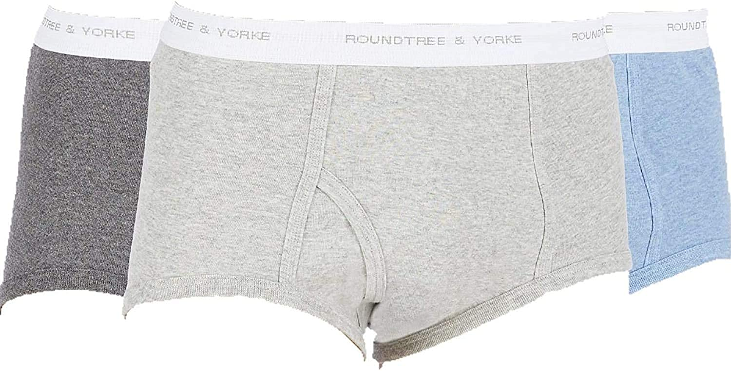 Roundtree & Yorke Big & Tall 3-Pack Assorted Full-Cut Briefs
