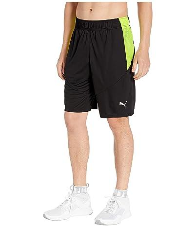 PUMA Energy Knit 10 Shorts (PUMA Black/Fizzy Yellow) Men